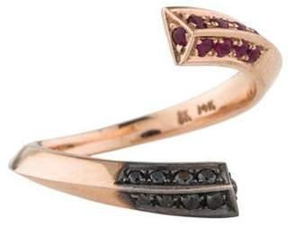 Selin Kent 14K Diamond & Ruby Eva Ring