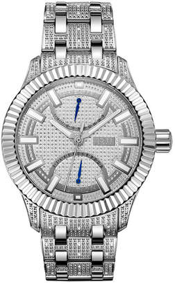JBW 50 Diamonds At .50ctw Mens Silver Tone Bracelet Watch-J6363a