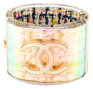 Chanel Tweed Hologram CC Cuff