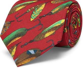 acec79c4b840 Ralph Lauren Fly Fish-Print Silk Tie