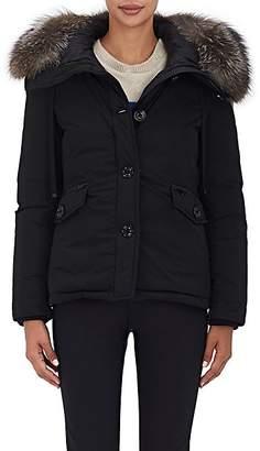 Moncler Women's Malus Fur-Trimmed Down Jacket - Black