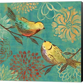 Metaverse Elegant Chickadee II by Rebecca Lyon Canvas Art