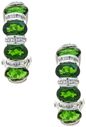 FINE JEWELRY LIMITED QUANTITIES Round Chrome Diopside Sterling Silver Drop Earrings