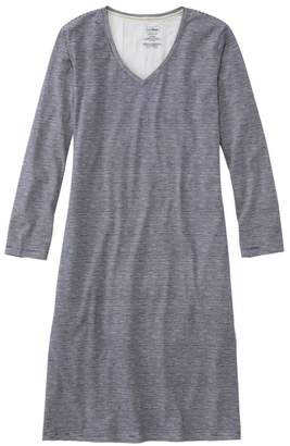 L.L. Bean L.L.Bean Women's Organic Supersoft Shrink-Free Nightgown, Print