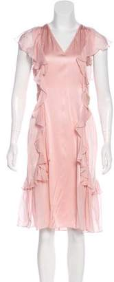 Thomas Wylde Silk Midi Dress