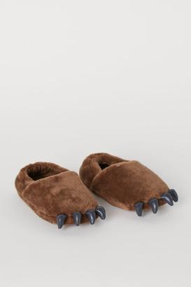 H&M Appliqued Slippers - Beige