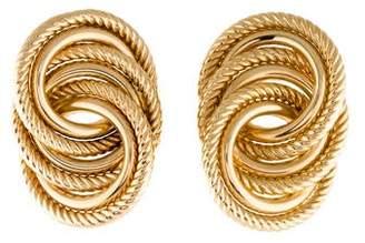 14K Interlocking Circle Earrings