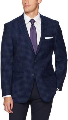 Vince Camuto Men's Modern Fit Gingham Sport Coat