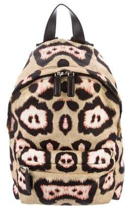 Givenchy Leather-Trimmed Jaguar Backpack