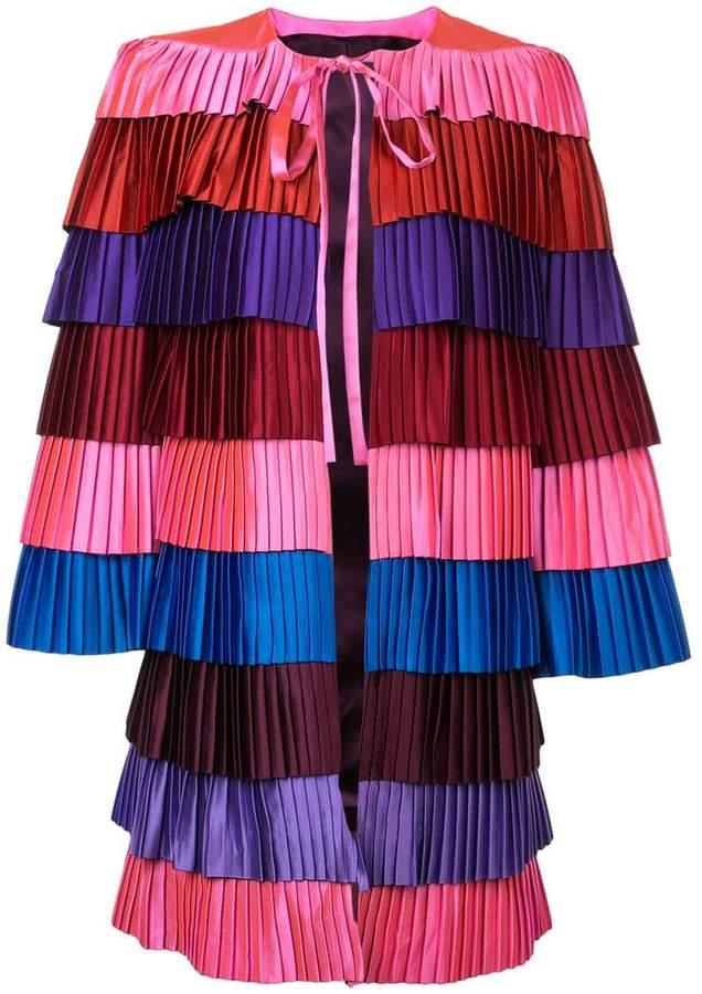 pleated layer coat