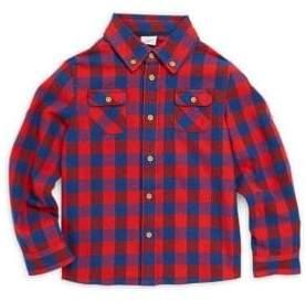 Baby Boy's & Little Boy's Tyler Checkered Cotton Flannel Collared Shirt