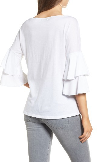 Women's Ten Sixty Sherman Ruffle Sleeve Tee 4