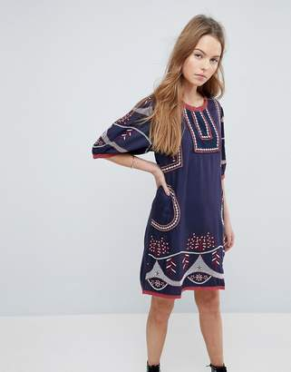 Hazel Embroidered Shift Dress