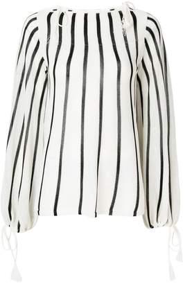 See by Chloe striped tie-detail jumper