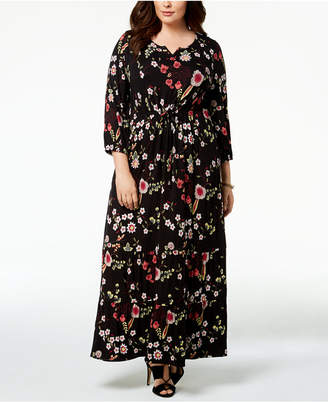 Style&Co. Style & Co Plus Size Printed Maxi Dress, Created for Macy's