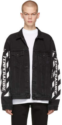Off-White SSENSE Exclusive Black Denim Temperature Jacket