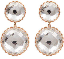 Larkspur & Hawk Olivia Large Convertible Day-Night Earrings in White Foil
