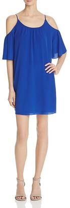FRENCH CONNECTION Polly Plains Cold-Shoulder Dress $98 thestylecure.com