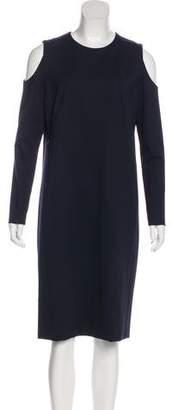 Akris Punto Cold Shoulder Midi Dress