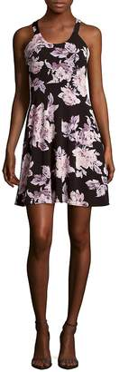 Collective Concepts Women's Scoopneck Floral-Print Dress