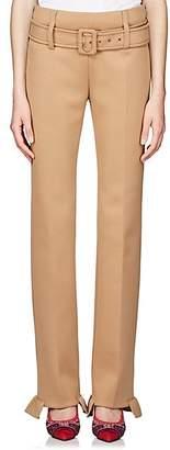 Prada Women's Neoprene Straight Pants - Camel