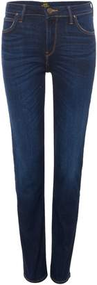 Lee Elly Slim Straight Jeans In Dark Urban Indigo