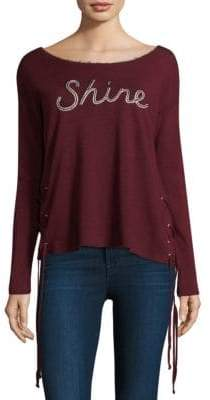 Sundry Shine Lace-Up Pullover