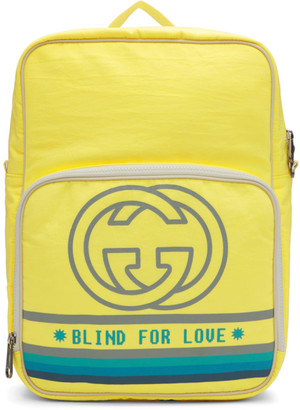 Gucci Yellow Medium Blind For Love Backpack