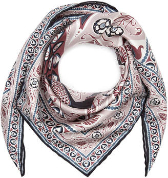Liberty London - Francis Silk Scarf - 70x70cm - Navy