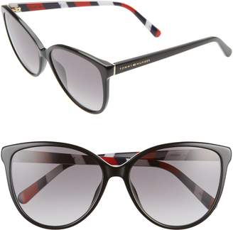 Tommy Hilfiger 57mm Gradient Cat Eye Sunglasses