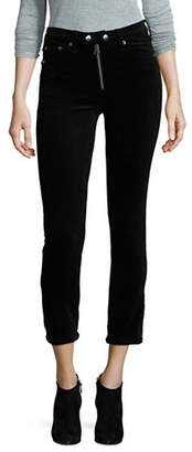 Rag & Bone Dojo Exposed Zip Velvet Crop Pants