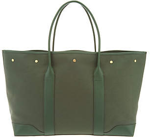 totes Martha Stewart Medium Canvas Tote withLeather Trim