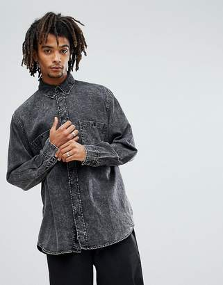 Cheap Monday Conduct Acid Wash Denim Shirt