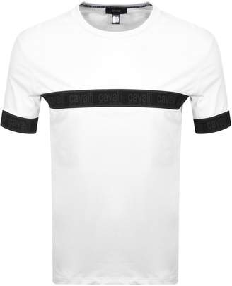 Just Cavalli Cavalli Class Elastic Logo T Shirt White