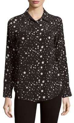Equipment Star-Print Casual Button-Down Shirt