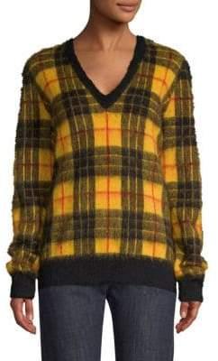 Michael Kors Tartan Mohair Pullover Sweater