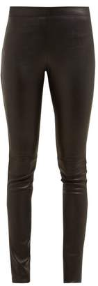 Joseph Classic Leather Leggings - Womens - Black