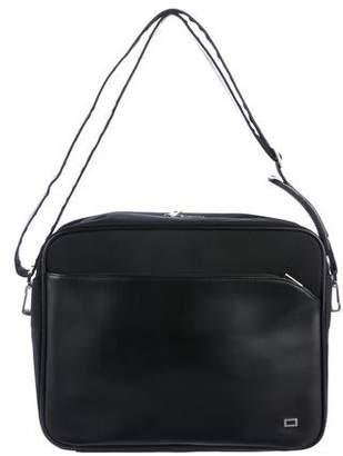 Lancel Leather-Trimmed Nylon Messenger