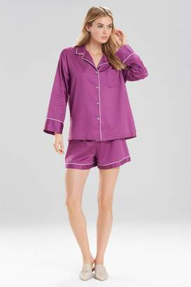 Natori Cotton Sateen Essentials PJ Shorts Set
