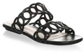 Schutz Yaslin Leather Slides