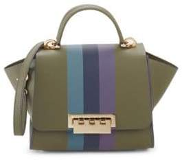 Zac Posen Eartha Striped Leather Shoulder Bag