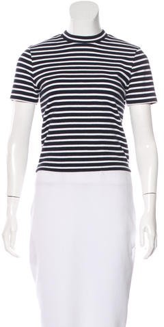 Alexander Wang T by Alexander Wang Striped Short Sleeve Top