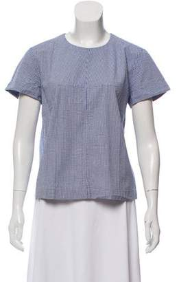 Trademark Gingham Short Sleeve Blouse