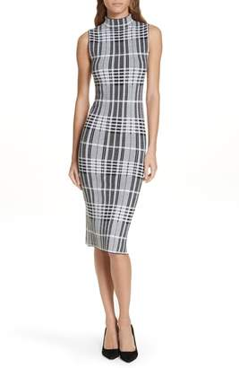 Alice + Olivia Hana Houndstooth Wool Sheath Dress