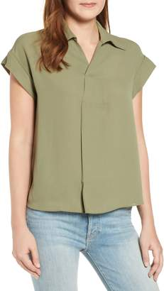 Everleigh Split Neck Collared Blouse