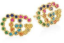 Gucci Women's 18K Yellow Gold Sapphire, Topaz & Tsavorite Earrings