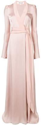 Diane von Furstenberg wrap front gown