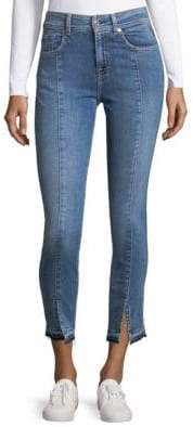 7 For All Mankind Vented Cuff Ankle Jeans