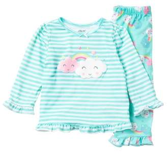 Little Me Clouds 2-Piece Pajama Set (Baby Girls)