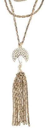 Lulu Frost Crystal Multi Chain Necklace $145 thestylecure.com